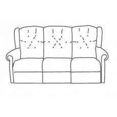 M Sadiq Abbey Upholstered 3 Seater Sofa