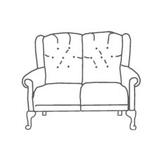 M Sadiq Abbey Queen Anne 2 Seater Sofa