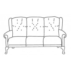 M Sadiq Abbey Queen Anne 3 Seater Sofa