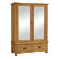 Global Home Collection 27 Wide Mirror Wardrobe
