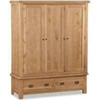Global Home Collection 27 Triple Wardrobe