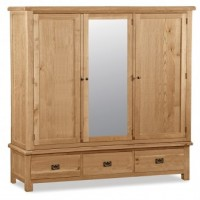 Global Home Collection 27 Extra Large Triple Wardrobe